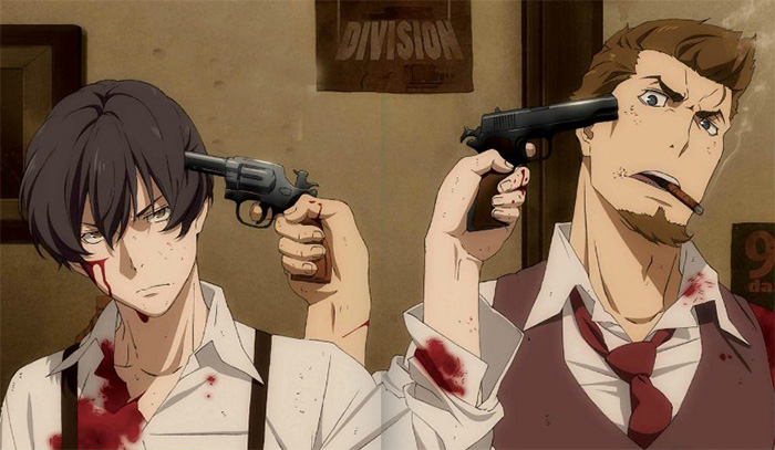Angelo Lagusa and Nero Vanetti putting guns to their heads 91 Days Shounen ai fanart - Nero x Angelo 91-days-yaoi Nero Vanetti Mafia Guns Blood Bad boy Angelo Lagusa - fanarts on yaoi-online.com