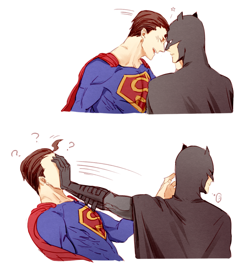 Batman x Superman shounen-ai fanart