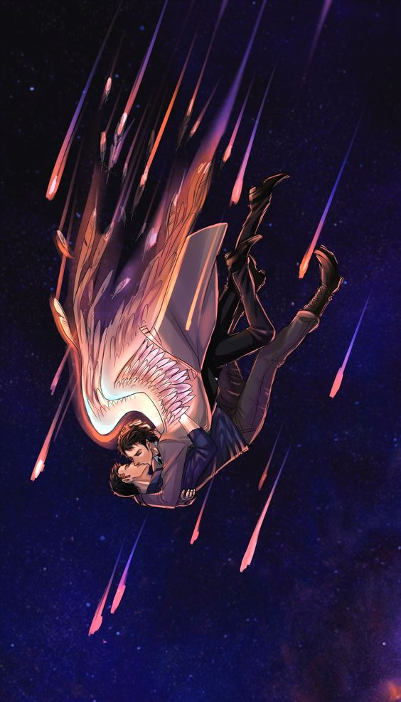 Dean Winchester x Castiel Supernatural yaoi falling from the sky - Falling together supernatural-yaoi Destiel Dean Winchester Castiel - fanarts on yaoi-online.com
