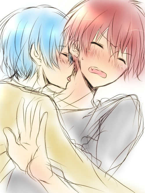 Nagisa Shiota licking Karma Akabane on the neck doujinshi fanart - Karma Akabane/Nagisa Shiota ansatsu-kyoushitsu-assassination-classroom-yaoi Nagisa Shiota Karma Akabane - fanarts on yaoi-online.com