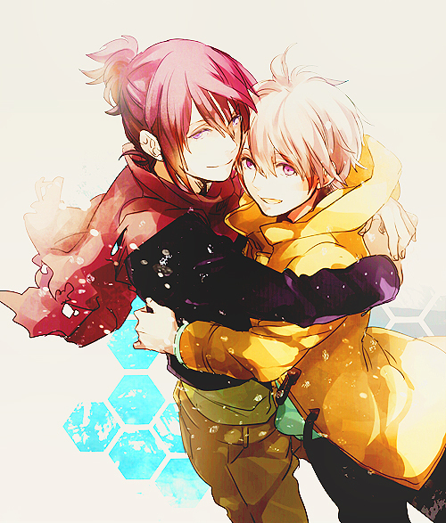 Nezumi x Shion phone yaoi wallpaper - Happy with him no-6-yaoi Yaoi avatars Shion Nezumi Hugging - fanarts on yaoi-online.com