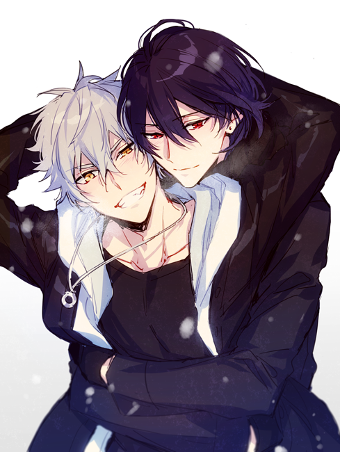 Rei and Kouga from Ensemble Stars yaoi fanart - Overjoyed ensemble-stars-yaoi Rei Sakuma Koga Oogami Hugging - fanarts on yaoi-online.com