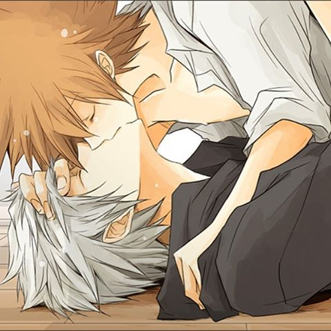 Sora and Riku kissing on the floor - Kissing on the floor kingdom-hearts-yaoi Yaoi avatars SoRiku Sora Riku Kissing - fanarts on yaoi-online.com