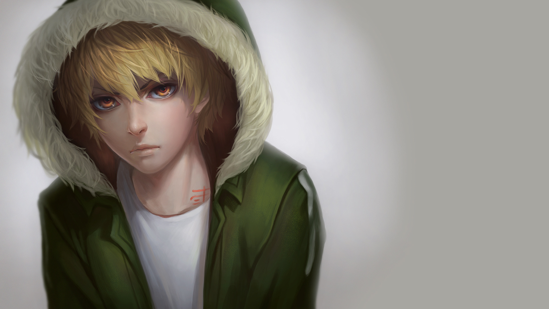 Yukine in green coat wallpaper from Noragami - Piercing gaze noragami-yaoi Yukine (Sekki) Uke Tattoos - fanarts on yaoi-online.com