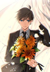A bouquet of sunflowers