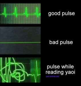 Pulse while reading yaoi