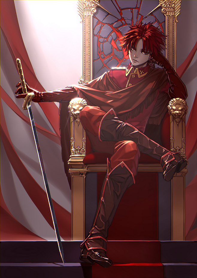 red haired boy on the trone fanart - The prince miscellaneous-yaoi Seme - fanarts on yaoi-online.com