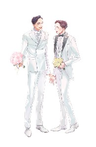 White wedding suits