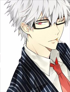 White-haired bishie