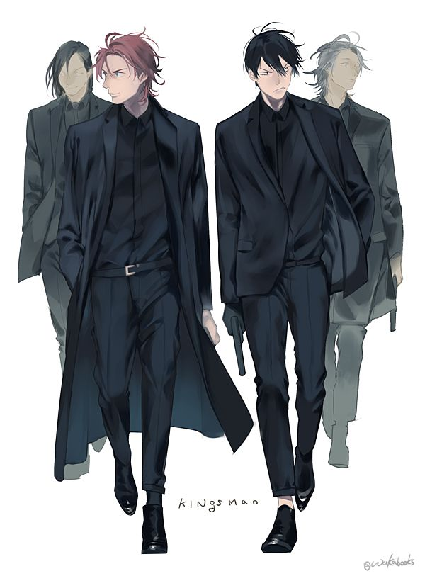 mafia anime boys Yowamushi Pedal yaoi fanart Hayato Shinkai x Yasutomo Arakita ShinAra cute art Kingsman Yowapeda mafia yaoi anime boys wearing black and carrying guns - Mafia boys yowamushi-pedal-yaoi Shinkai Hayato Mafia Guns Arakita Yasutomo - fanarts on yaoi-online.com