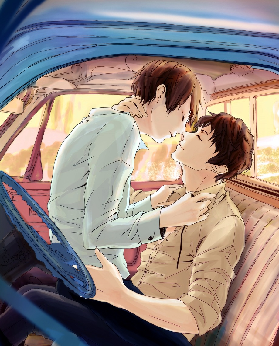 yaoi in a car two boys kissing in the front seat of a car boys love shounen ai fanart roleplay ideas phone iPhone yaoi wallpaper cute and romantic yaoi fanart Hetalia Spain x South Italy Romano Spamano - Making out in a car hetalia-axis-powers-yaoi Lovino Vargas (South Italy) Kissing Antonio Fernández Carriedo (Spain) - fanarts on yaoi-online.com