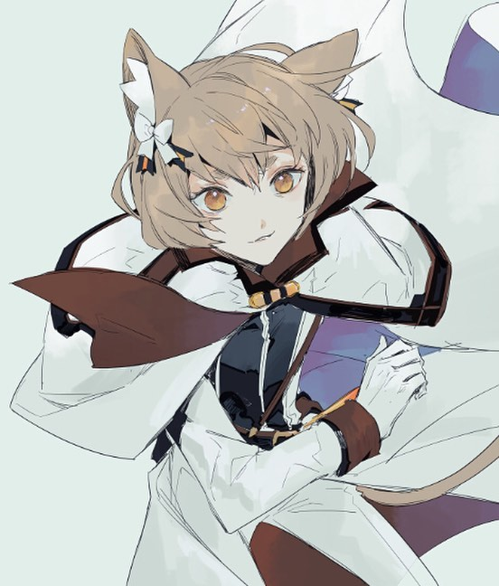 cute Felix Argyle from ReZero cute neko boy with big amber eyes and fluffy brown ears Ferris cute yaoi trap uke kemonomimi anime boy - Amber eyes re-zero-yaoi Uke Neko boy Felix Argyle - fanarts on yaoi-online.com