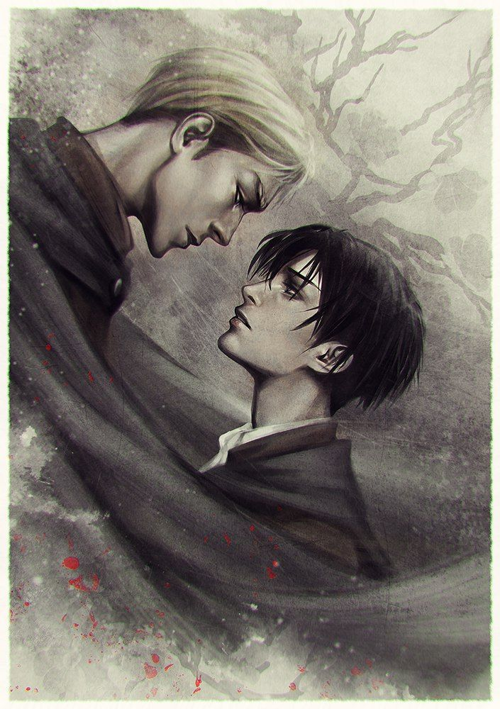 Levi and Erwin looking at each other melancholic and sad Eruri fanart Shingeki no Kyojin yaoi fanart Erwin Smith x Levi Ackermann Attack on Titan OTP SnK AoT Erwin and Levi phone wallpaper - Can the wind carry us home? shingeki-no-kyojin-attack-on-titan Yaoi phone wallpapers Levi Ackermann Erwin Smith Eruri - fanarts on yaoi-online.com