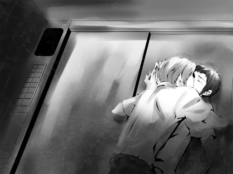 Koizumi pushing Kyon against the wall kissing him softly Suzumiya Haruhi no Yuuutsu boys love one true pairing seme Itsuki and uke Kyon The Melancholy of Haruhi Suzumiya Shounen ai - Pushing him against the wall suzumiya-haruhi-no-yuuutsu-yaoi Monochrome Kyon Koizumi Itsuki Kissing - fanarts on yaoi-online.com