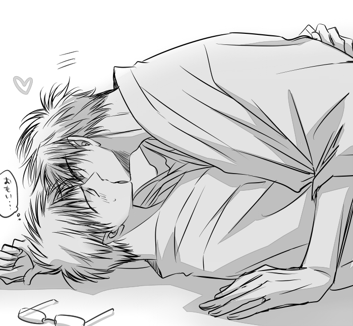 Hyuuga Junpei and Kiyoshi Teppei kissing on the floor romantic KnB boys love fanart Kuroko no Basuke Kiyoshi x Hyuuga cute Shounen ai in black and white romantic kiss - What I really feel kuroko-no-basket-yaoi Yaoi avatars Teppei Kiyoshi Monochrome Kissing Hyuuga Junpei Glasses - fanarts on yaoi-online.com