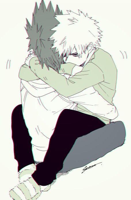 Cute KiriBaku hug Kirishima hugging and comforting angry and sad Bakugo BnHA Katsuki Bakugo x Kirishima Eijirou boys love hug spiky hair pair My Hero Academia yaoi hugs - Here for you boku-no-hero-academia Yaoi phone wallpapers Kirishima Eijirou Katsuki Bakugo Hugging Cute - fanarts on yaoi-online.com